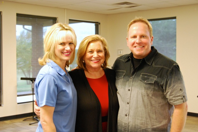 Kim and I with our friend, mentor and former Tabor Ministries Board Member, Sandi Patty
