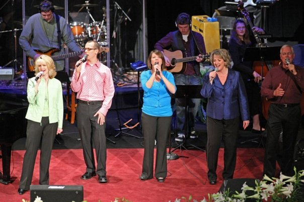 The Praise Team leading in worship