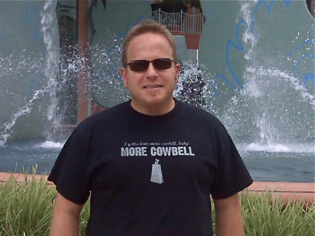 Me in front of the Dolphin Resort fountain, Walt Disney World