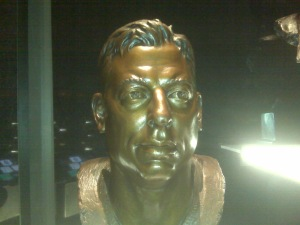 Here's A Nod To Kim - Troy Aikman's Bust - Pro Football Hall Of Fame - Canton, OH