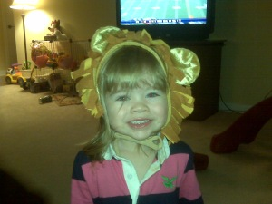 """The Lion"" - Here's Mara J Trying On Her Halloween Costume - ADORABLE!!"