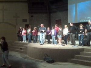 "Christmas Rehearsal at MPCC - Jerry Hacker ""Bringing The Funk"""